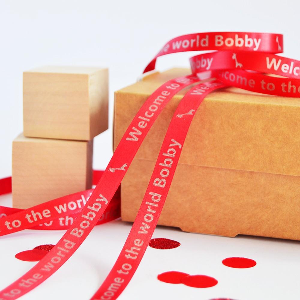 plastic bag printing 84 - Personalised Printed Ribbon